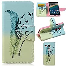 Nexus 5X Case,Gift_Source Brand [Feathers and birds][Kickstand Feature][Slim Fit] Premium PU Leather Wallet Case Stand Flip Cover with Card Slots Leather Case for LG Google Nexus 5X (2015)