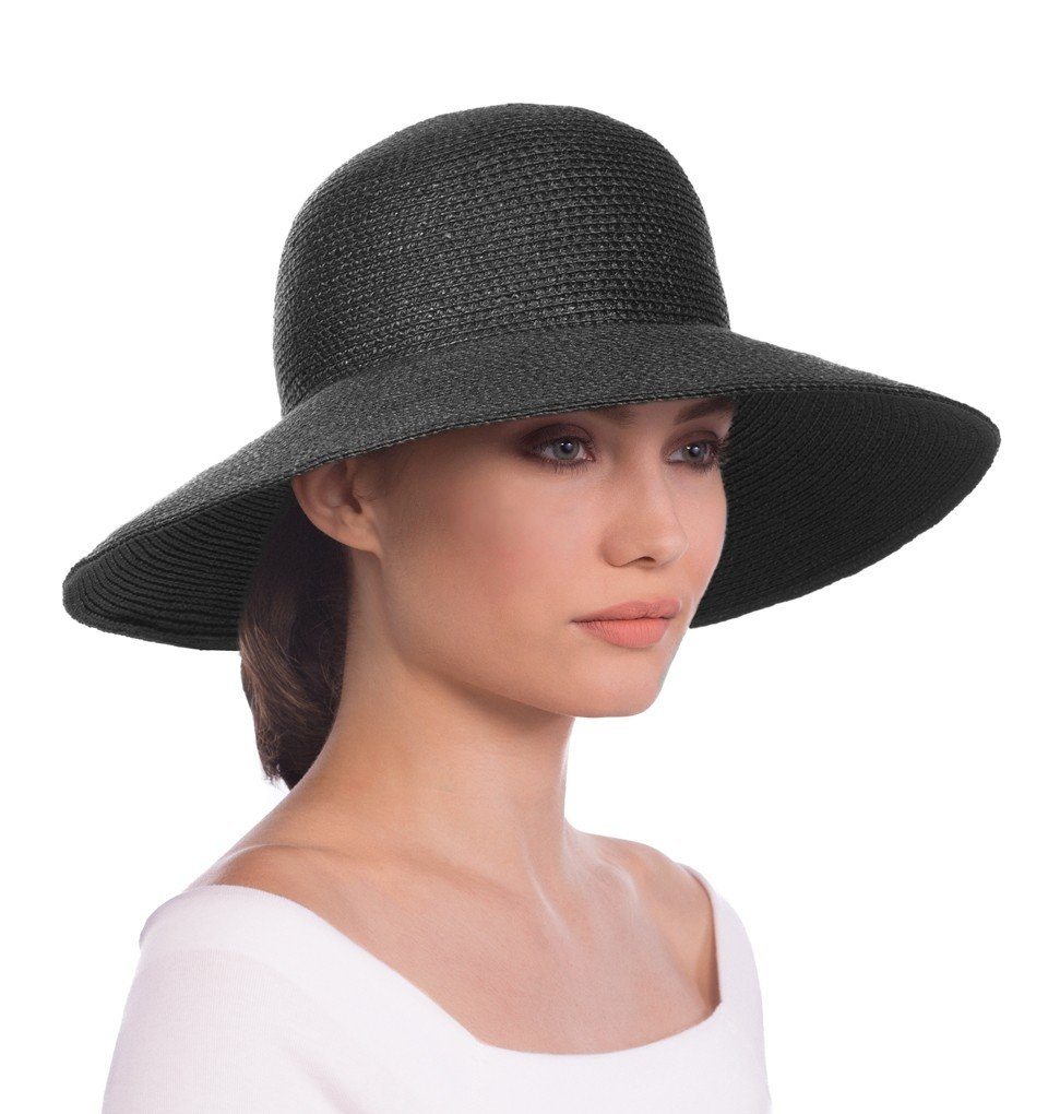 Eric Javits Luxury Fashion Designer Women's Headwear Hat - Hampton - Black