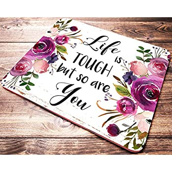 He Fills My Life With Good Things   Christian Quote   Inspirational Office  Decor Mouse Pad With Bible ...