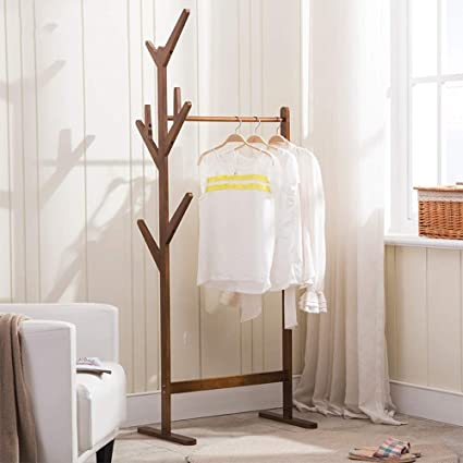 cc6a12f5b25 Coat rack Feifei 2 in 1 Clothes Stand Hat Handbag Hanger Hall Hanging Rod  Double Tree Branches 8 Hooks Adjustable Leveling Feet (Color   02)   Amazon.co.uk  ...