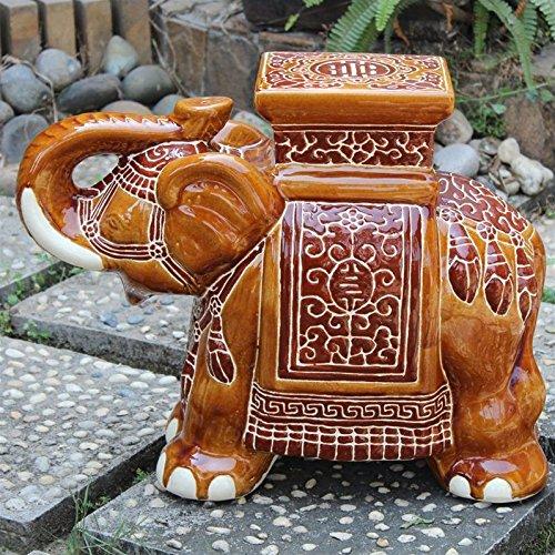 International Caravan VHO16A-C-LG-FB-IC Furniture Piece Large Porcelain Elephant ()