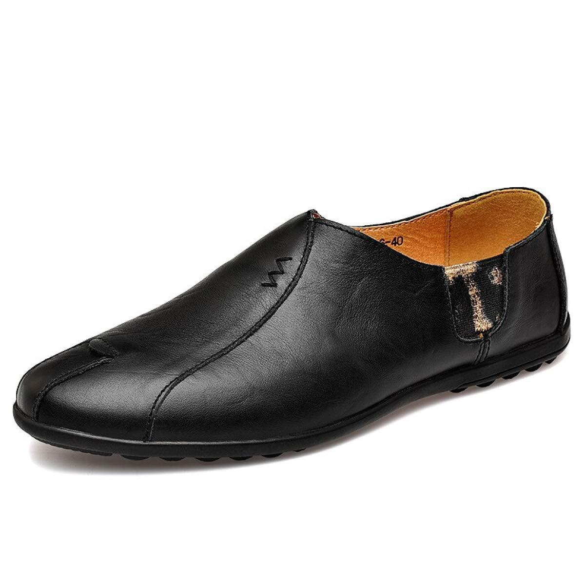Amazon.com: MIKI SHOP Leather Men Shoes Luxury Casual Mens ...