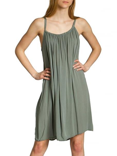 Caspar SKL010 Vestido Corto de Verano para Mujer/Vestido de Playa de Algodón, Color