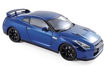 Norev NV188052 1 2008 Nissan GTR R-35 - Báscula Azul, Escala 1:18: Amazon.es: Juguetes y juegos