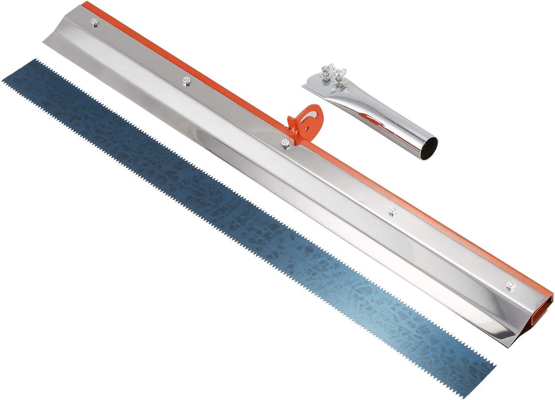 CUHAWUDBA Edelstahl Zahnrakel Epoxy Cement Painting Beschichtung Selbstverlaufender Bodenbelag Zahnrad Schwader Aufbau Werkzeuge Teil
