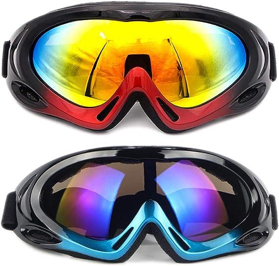 SENDILI 2-Pack Gafas de Esquí - Gafas de Esquiar para Unisexo ...