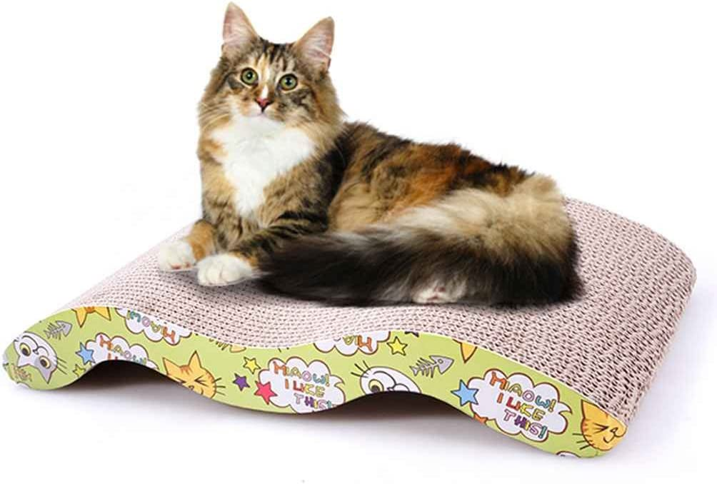 Windy5 Pet Cat Scratching Corrugated Board M-shape Scratcher Pole Bed Pad Mat Toy