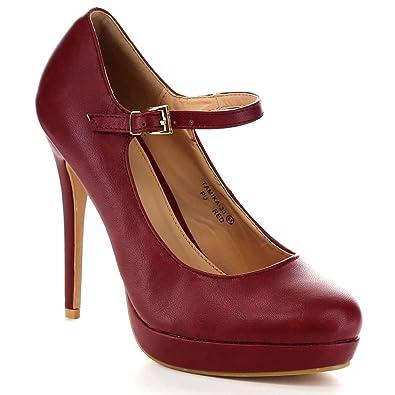 13c9f396c9e Bella Marie BellaMarie Women's Lovely Ankle Strap High Platform Pump Dress  Shoes