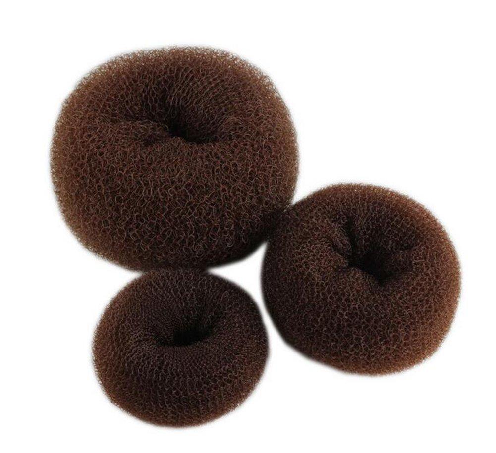 Cdet 3X Nuevo círculo bolas cabeza flor cabeza cabeza dispositivo donut atar plancha pelo styling herramientas