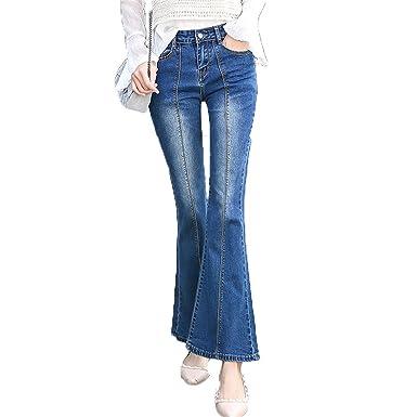974be1795bc8 Flared Jeans Women Flare Retro Style Bell Bottom Skinny Jeans Female Wide  Leg Women Denim Pants