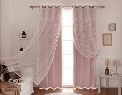 Amazon.com: Lotus Karen Princess Curtains for Girls Bedroom ...