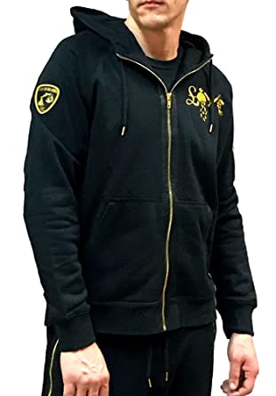 08122678d6ca Amazon.com  Cash ON DELIVERY M.O.B Lambo Logo Zip Up Hoodie ...