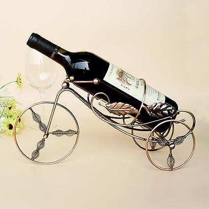 Calunce Single Bottle Holder Stand Retro Style Wine Bottle Holder