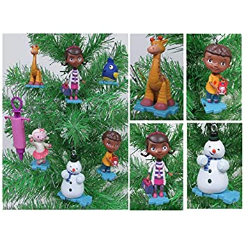 DOC MCSTUFFINS Christmas Tree Ornament Set Featuring Doc McStuffins Lambie, Gabby, Chilly and More