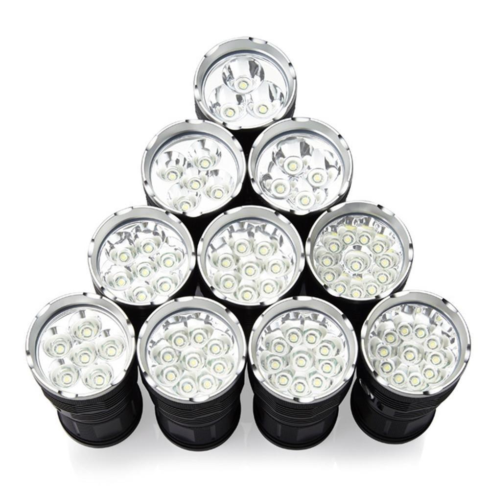 Super helle Taschenlampe 3-12 Kappen T6 Lampe Perlen 3800 Lumen 5 Licht-Modi-LED-Taschenlampe