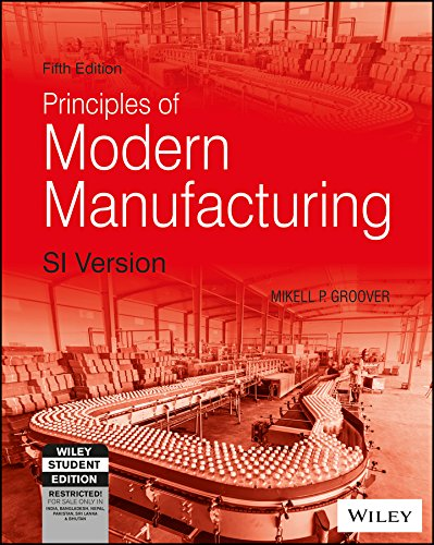 (Fundamentals of Modern Manufacturing: Materials, Processes, and Systems (5th Ed.) By Mikell P. Groover (International Economy Edition))