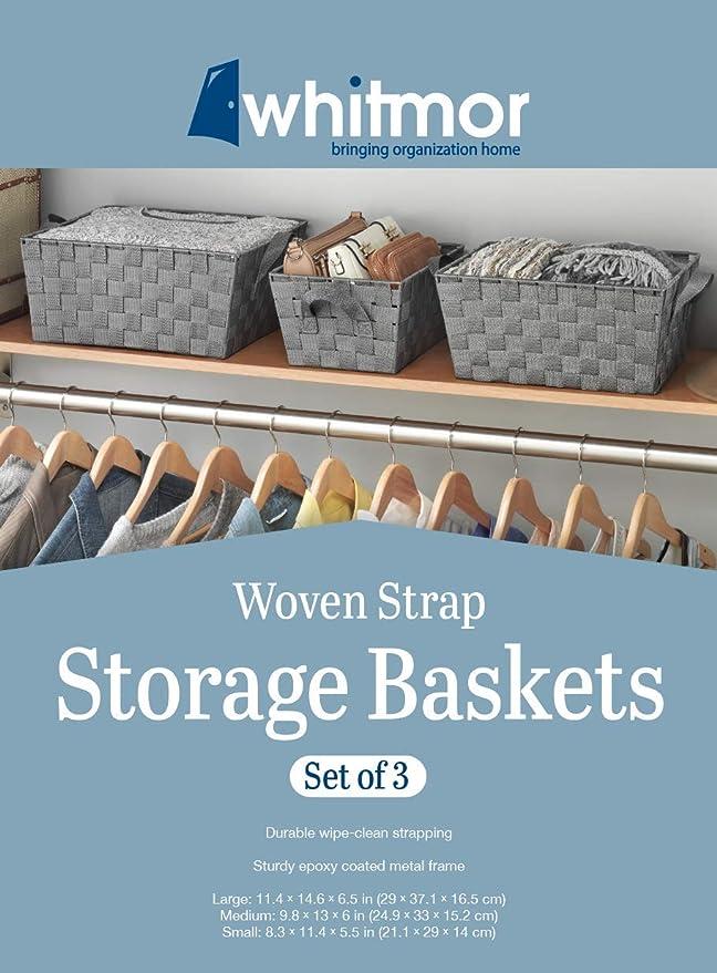 L/ÄSSIG Storage Baskets Set of 3 Muslin Green