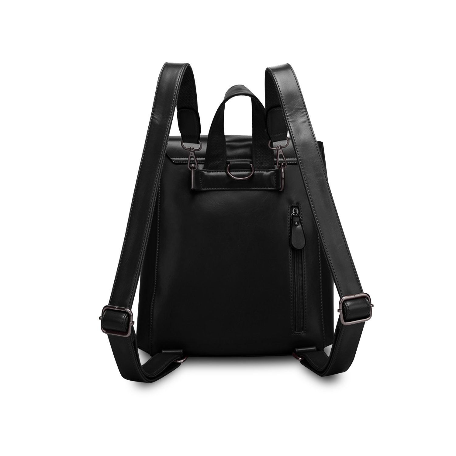 Women Leather Backpack,ZZSY Vintage Fashion Schoolbag Ladies Flap Daypack Shoulder Bag for College Girls by ZZSY (Image #3)