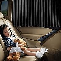 ستائر لنافذة السيارة من اوفيج - ستارة حريرية للنافذة الجانبية بطيات لتوفير الخصوصية والحماية من الشمس والاشعة فوق…