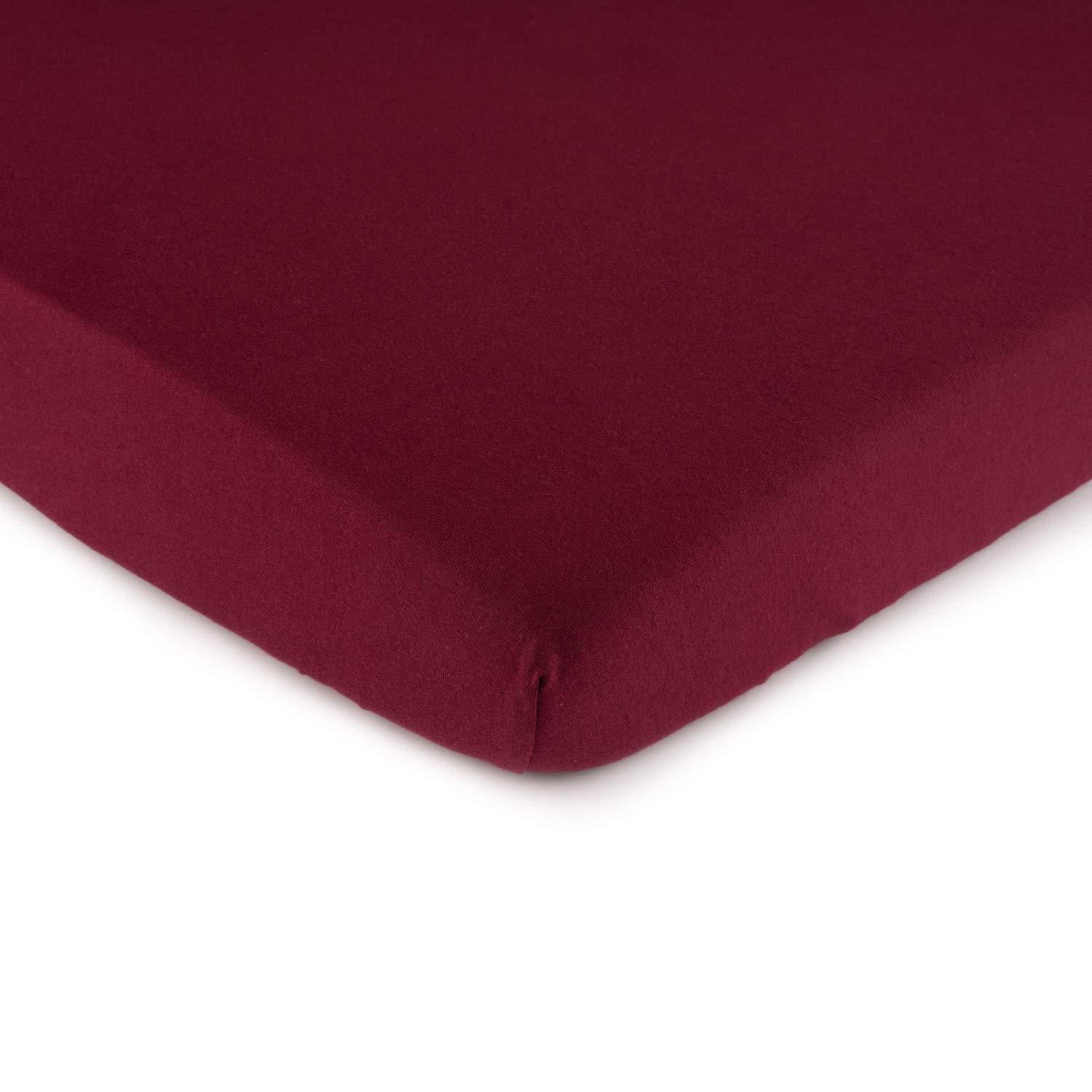 SheetWorld Fitted 100% Cotton Jersey Cradle Sheet 18 x 36, Burgundy, Made in USA by SHEETWORLD.COM