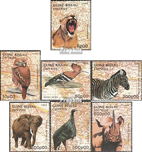 Guinea-Bissau 982-988 (Complete.Issue.) 1988 Animals (Stamps for Collectors) Mammals Other