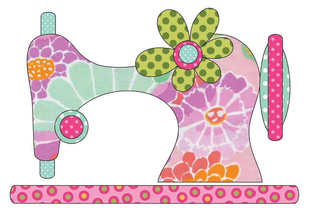 Quilting Creations UEA-1234 Applique Elementz Vintage Stitches Sewing Machine Pink 8 x 5-1//2