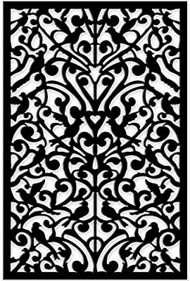 Acurio 4832ID-2-BK-GND Lattice Ginger Dove Panel Screen as Trellis, Patio & Outdoor Decor, Black