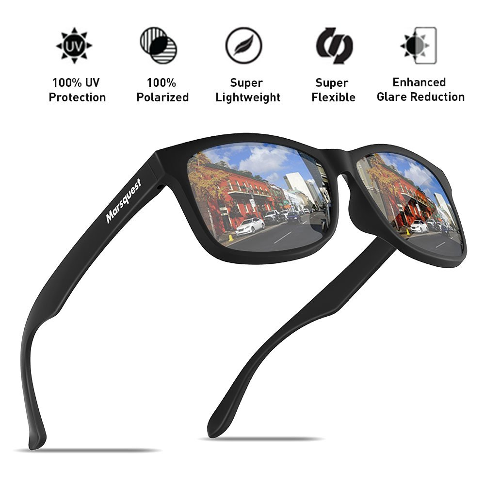 Mens Polarized Sunglasses - Momentum Memory Material Durable & Lightweight by MARSQUEST