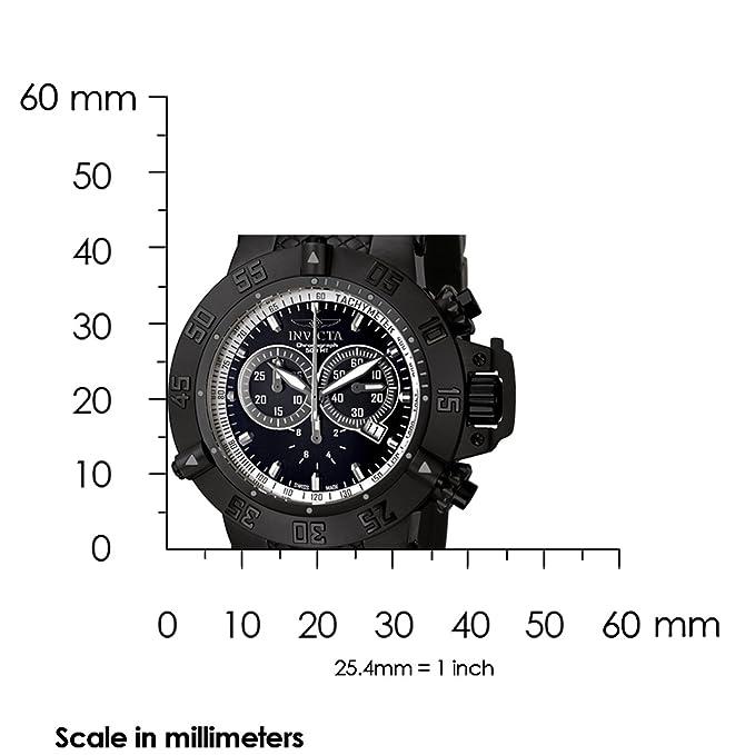 Invicta 5508 - Reloj cronógrafo de caballero de cuarzo con correa de goma negra: Amazon.es: Relojes