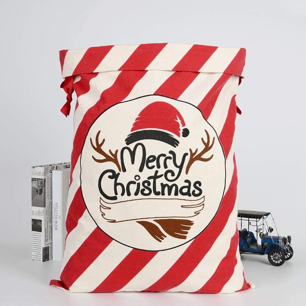 Gro/ße Weihnachtsgeschenkbeutel aus Segeltuch Santa Sacks Vintage Gift Bag with Drawstring Weesey Weihnachtsgeschenkbeutel Weihnachtsgeschenkbeutel