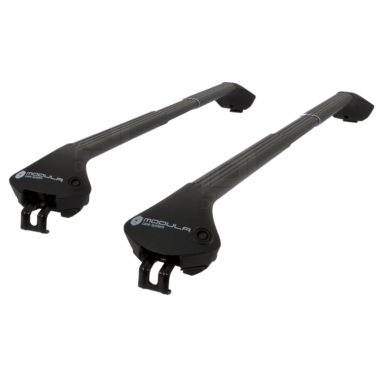 Modula MOCS0075-0980 Aluminium Black Roof Bar Set (Closed Roof Rails)