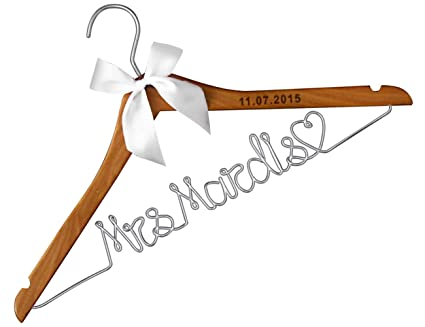 amazon com wood wedding hangers lser engraved custom personalized