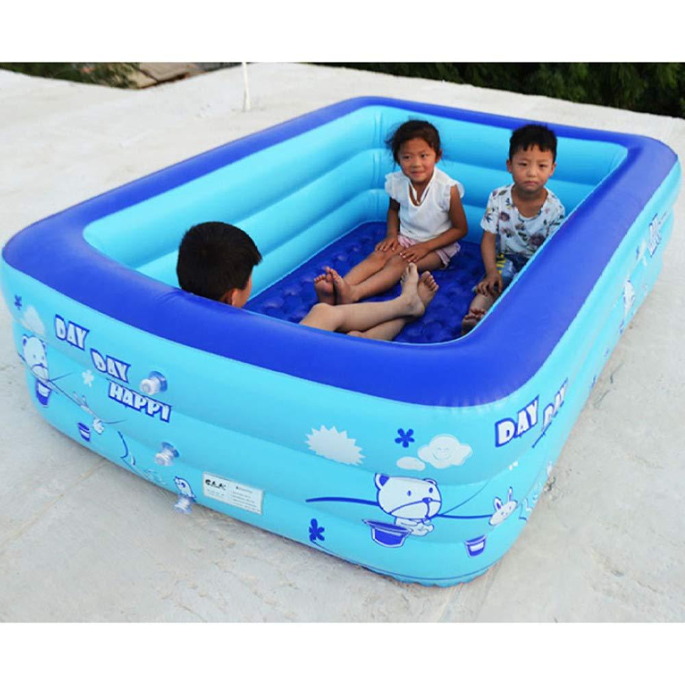 ZHKGANG Rechteckiges Schwimmbecken Für Erwachsene, Kinder, Wasserball, Dickes Planschbecken,Blau-1.8m Blau 1.2m