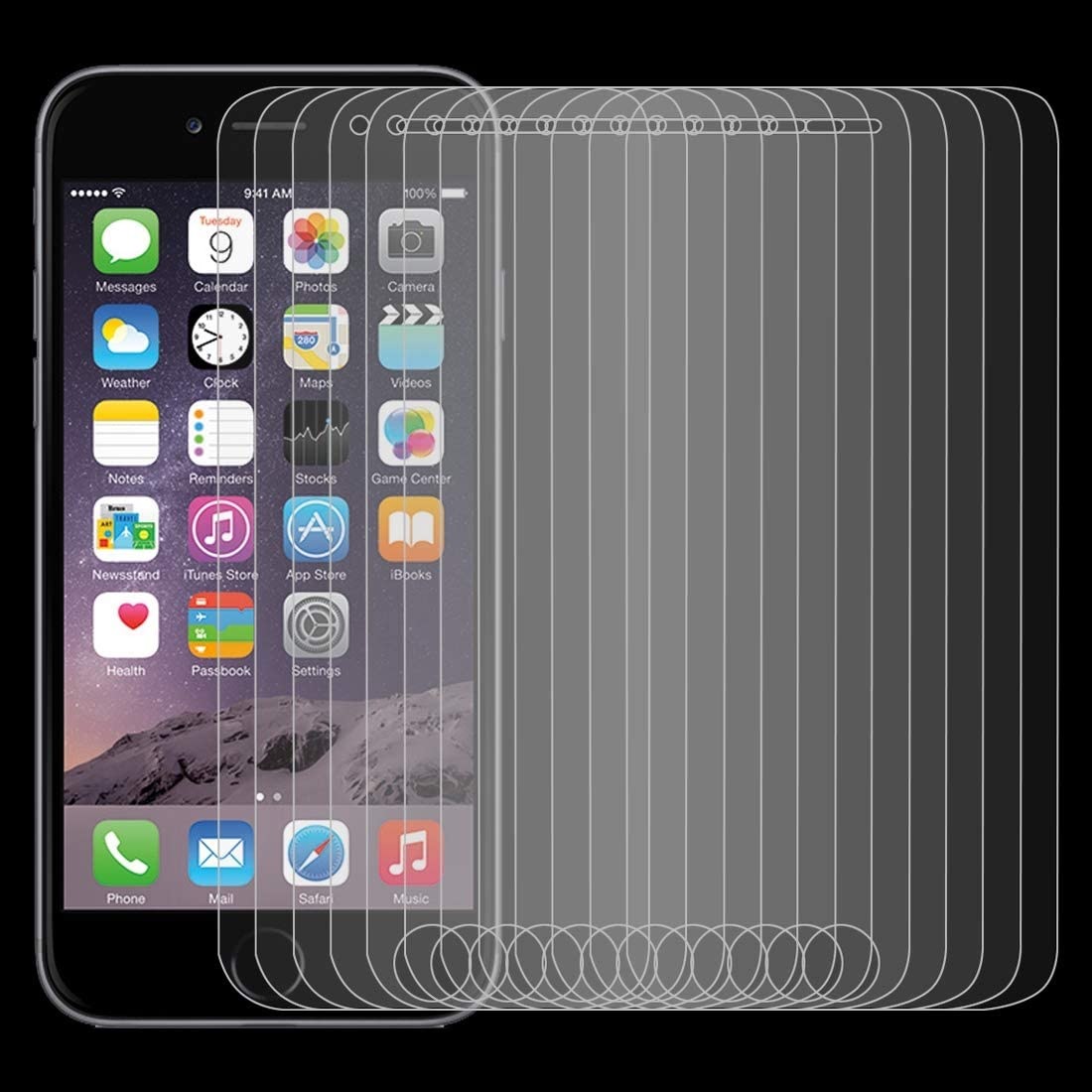 LGYD for 50 PCS 0.26mm 9H 2.5D Tempered Glass Film for iPod Touch 6