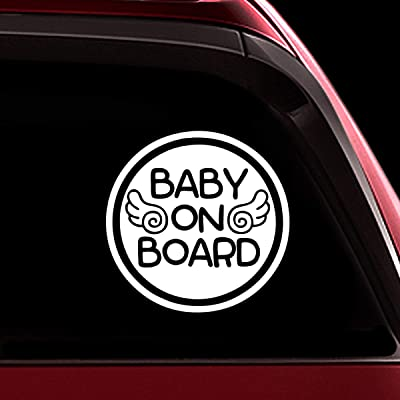 TOTOMO Baby on Board Sticker - Safety Caution Decal Sign Stickers for Cars Windows Bumpers - Baby Angel ALI-022: Automotive