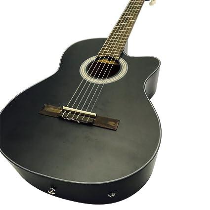 Coban Guitars – Guitarra acústica clásica sólo con EQ (negro mate)