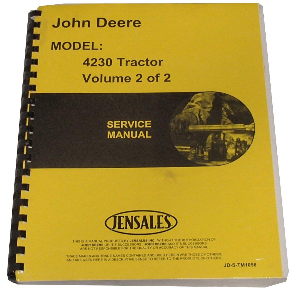 New Service Manual For John Deere 4230 Tractor: 0739992213326: Amazon.com:  Books
