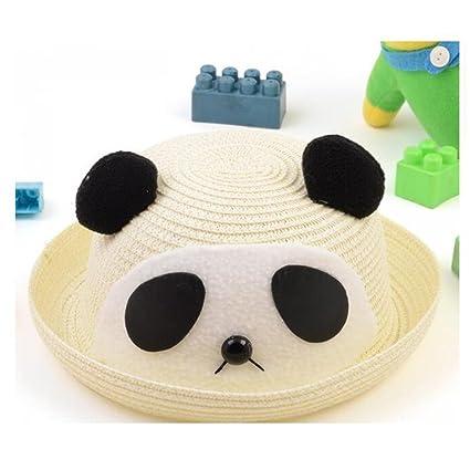 Amazon Com Kaka Tm Girls Boys Cute Panda Shape Summer Hat Straw Cap