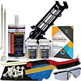 Concrete Foundation Crack Repair Kit - Low Viscosity Polyurethane - FLEXKIT-1050-10