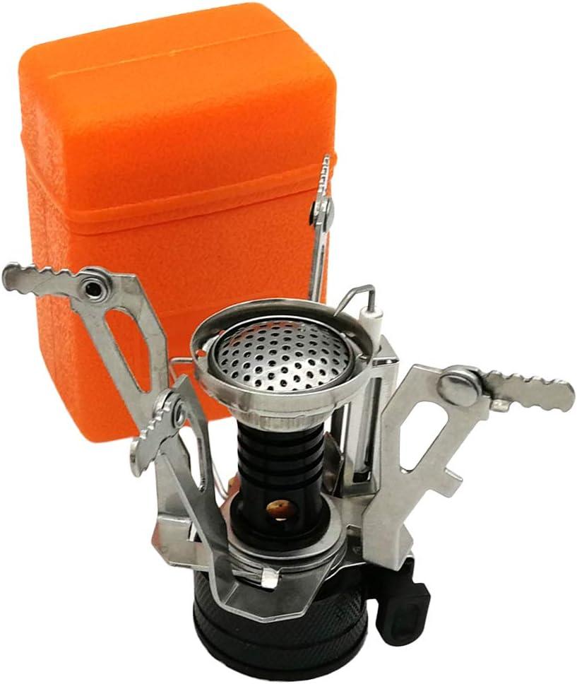 LIOOBO Hornillo de Acampada Quemador de Alcohol Portátil al Aire Libre con Estufa de Alcohol para Acampar Viaje de Excursión Viaje (Conector Negro)