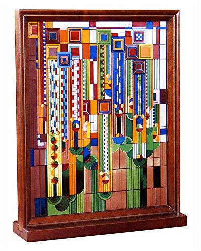 Frank Lloyd Wright Saguaro Wood Framed Stained (Saguaro Glass)