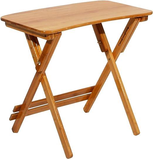Giardino DlandHome Piccolo Tavolo da Pranzo Pieghevole per Patio 70 x 39 x 62-78 cm con sedie Pieghevoli per Esterni tavolino da caff/è in Legno