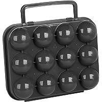 Promobo - Boite à Oeuf Mallette De Rangement 12 emplacements Noir