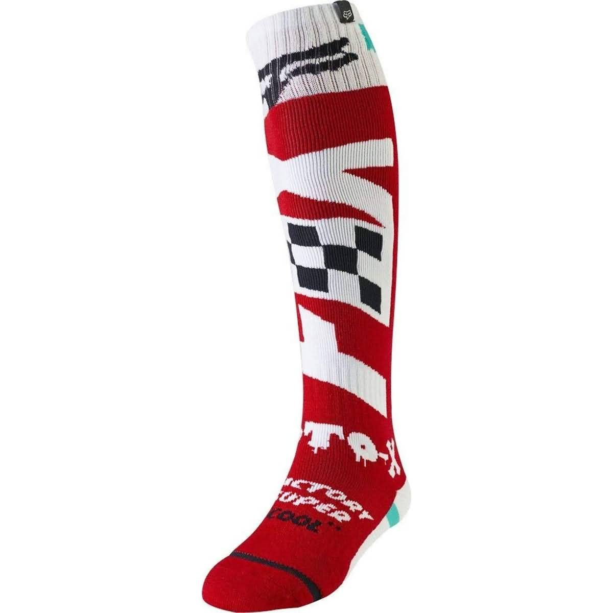 Fox Racing 2019 FRI Thin Socks - Czar (MEDIUM) (CARDINAL)