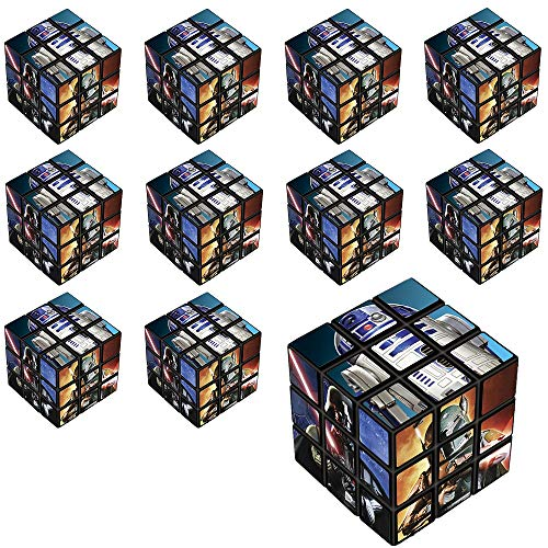 Party City Star Wars Puzzle Cubes 24 Count, Birthday Party Favors for Kids, Plastic, 1 1/8