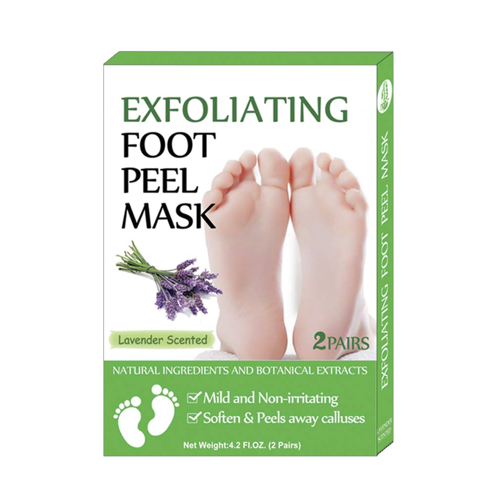 Foot Mask 2 Pairs,Exfoliating Foot Peel Mask,Peel Away Calluses & Dead Skin, Repair Rough Heels in 1-2 Weeks …