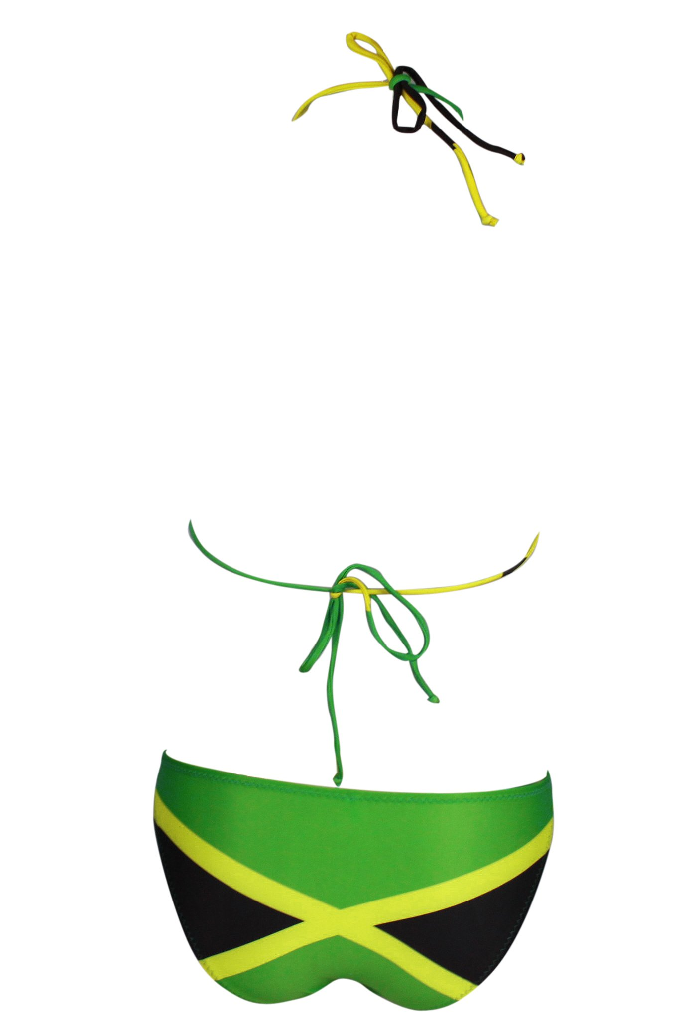 b458591f658 ecolore Women's Fashion Caribbean Jamaica Flag Bikini Swimsuit Swimwear