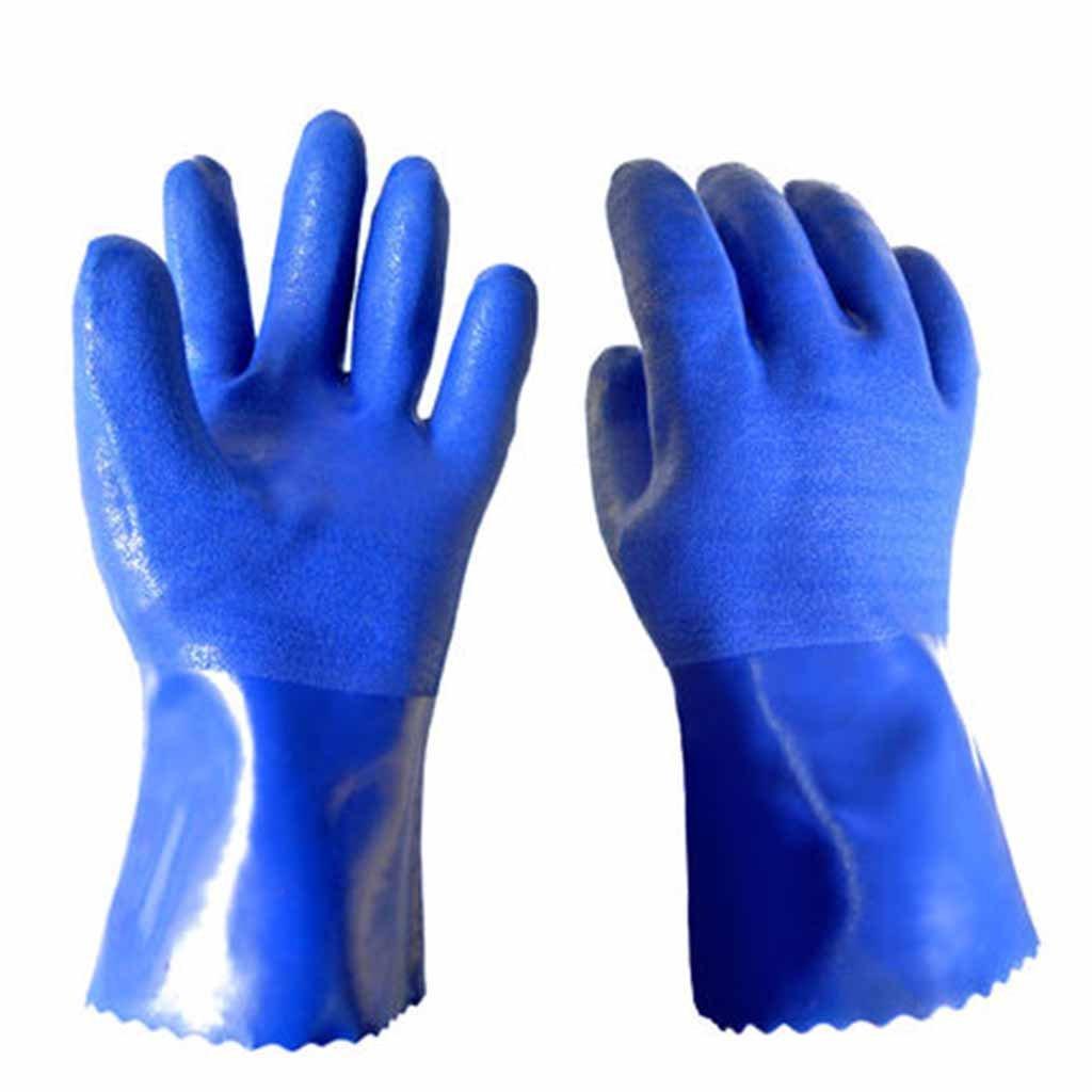 renshiminshop工業ノンスリップ耐摩耗性暖かい手袋ソリッドカラー快適な通気性手袋 X-Large B07FF2BX11   X-Large