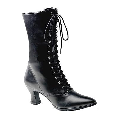 093643f0fcbc7 Amazon.com   Pleaser Victorian Granny Boot 2 3/4 Inch Heel w Side ...