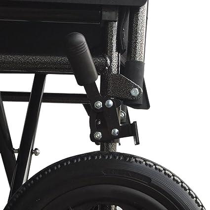 Silla de ruedas de acero, plegable | Con reposapiés y reposabrazos extraíbles | Ancho de asiento: 40 cm: Amazon.es: Hogar